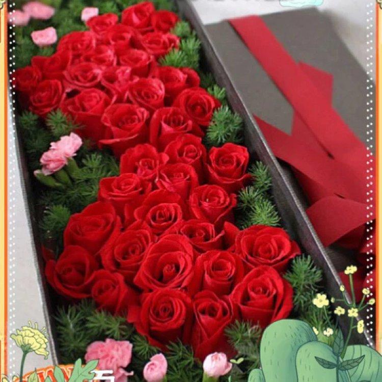 双心玫瑰礼盒