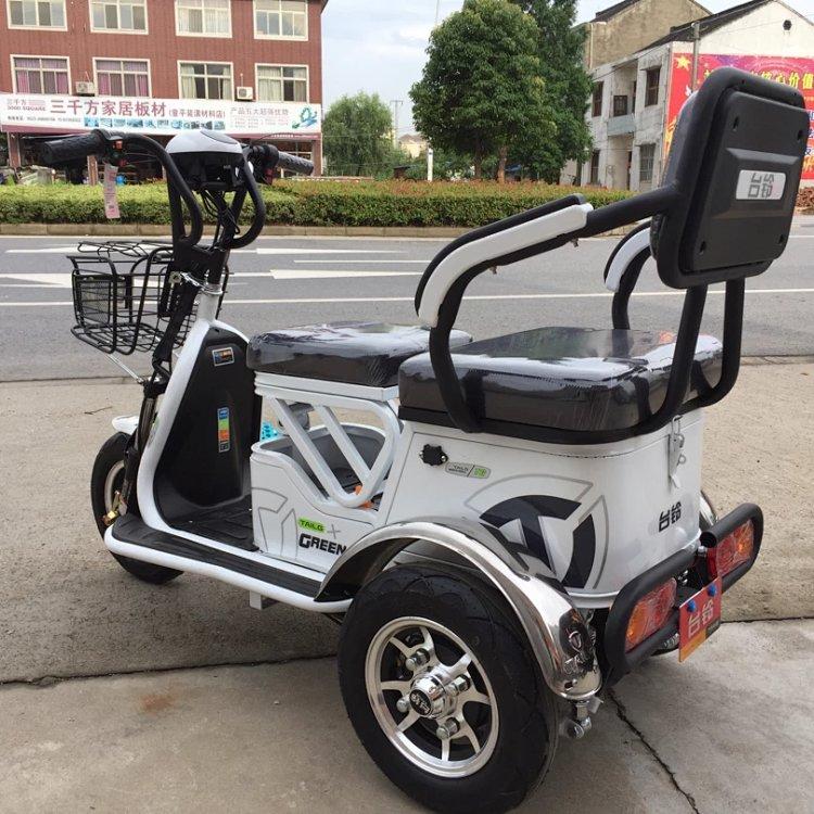 台铃电动休闲三轮车,飞豆,350w差速中置电机,真空胎,48v大电池,加粗