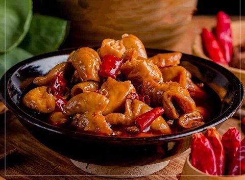 香辣美味椒盐节子零食腰子必备先香糯肥肠生的猪肥肠怎么v美味图片
