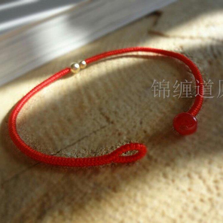 [相依]藏式金刚绳 进口14k金珠 红绳 手绳/手链