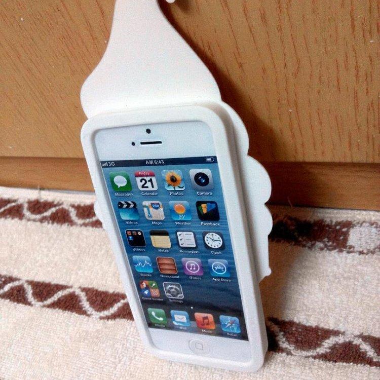冰淇淋&手机~iphone5/5s薯条软壳smt贴片按件料图片