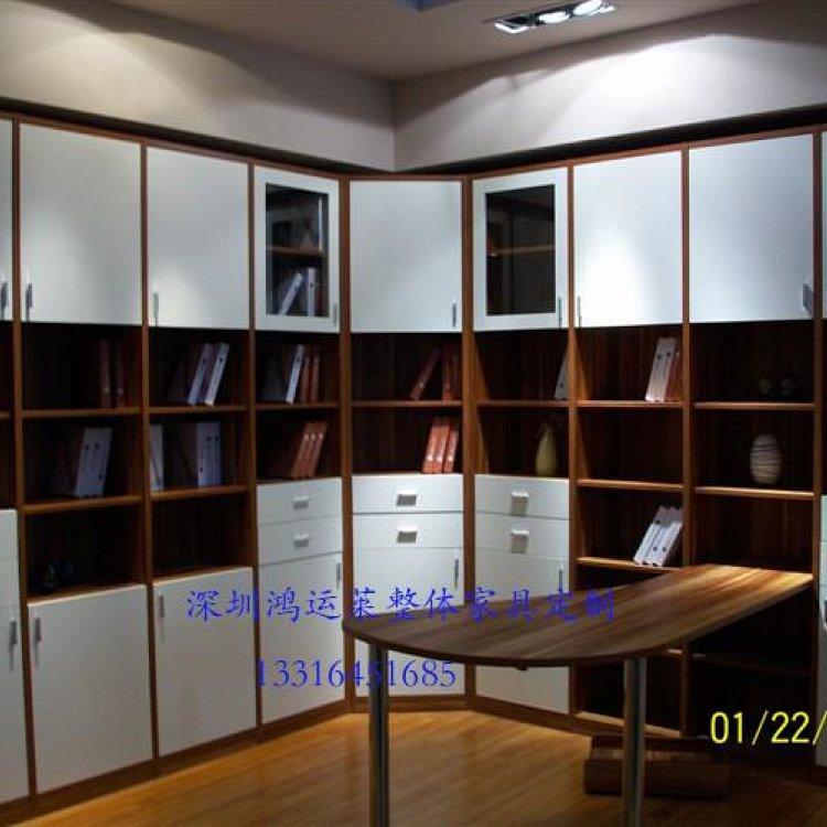 深圳定制定做欧式书柜简约书架电脑桌书桌写字台整体
