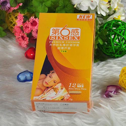 超薄第6感情趣避孕套**芦荟成人安全套酒店性用品正品好情趣有设施什么香型的图片