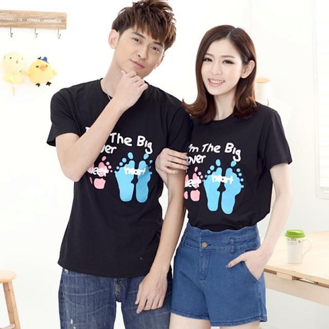韩国代购正品验证韩国可爱脚印 休闲情侣装 3607