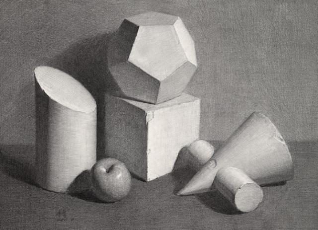 157333代画素描几何静物肖像石膏画作业纯手绘人物