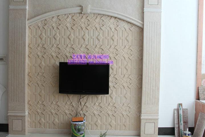 欧式砂岩电视背景墙墙砖 艺术砂岩板材 砂岩背景墙 墙纸 砂岩浮雕