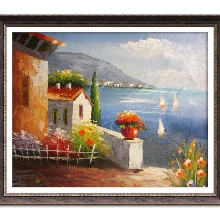 风景油画 海边风景民情 海景 浪漫沙滩 装饰画