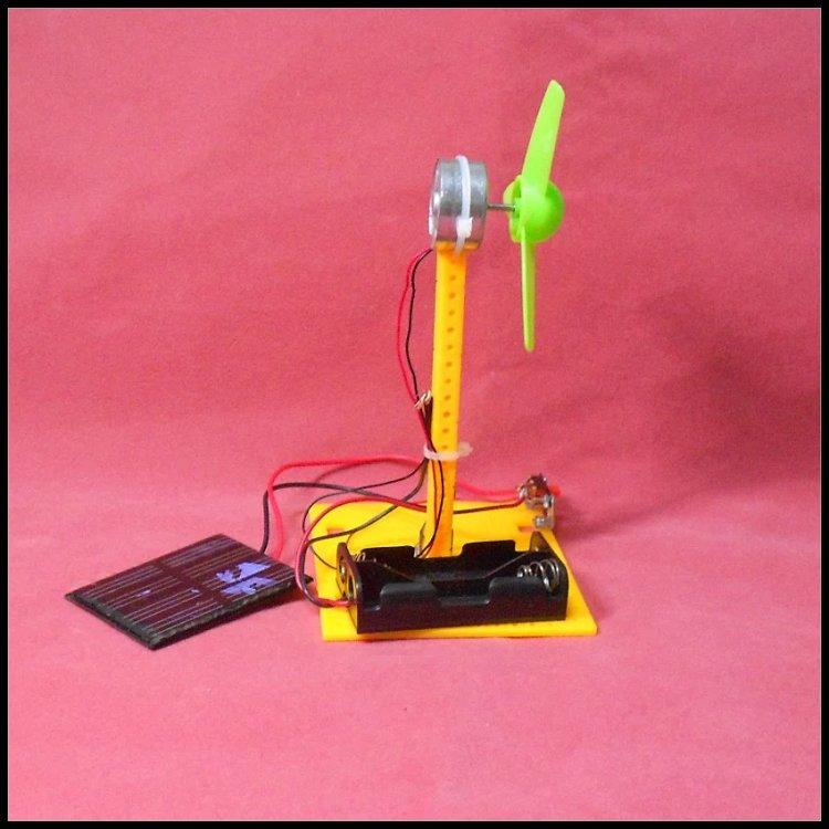 科学试验太阳能电风扇科学小制作小发明diy小学生科普