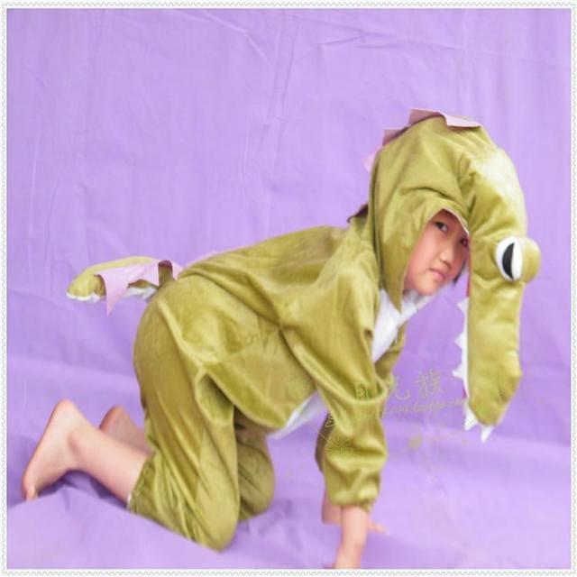 六一儿童节表演装扮衣服鳄鱼服装儿童成人卡通露脸