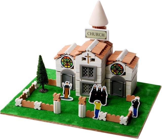 手工体验乐筑拼装模型手工diy创意制作房屋建筑模型儿童益智玩具陶瓷