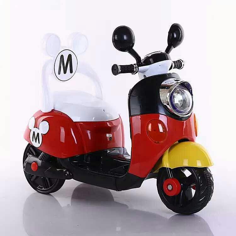 米奇木兰儿童电动三轮车电动摩托车电瓶车电动车可坐