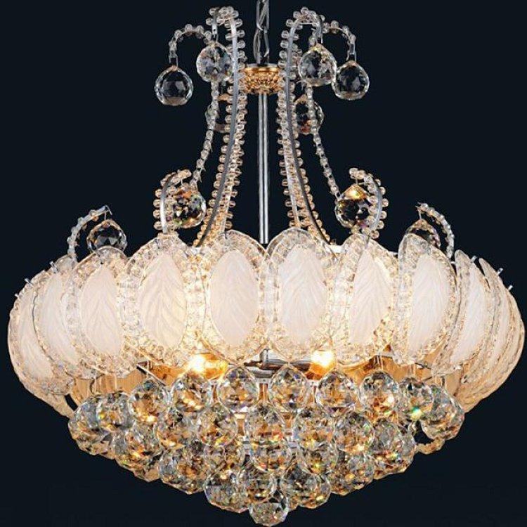 家装主材欧式水晶灯餐吊厅灯客厅水晶灯发财树水晶灯
