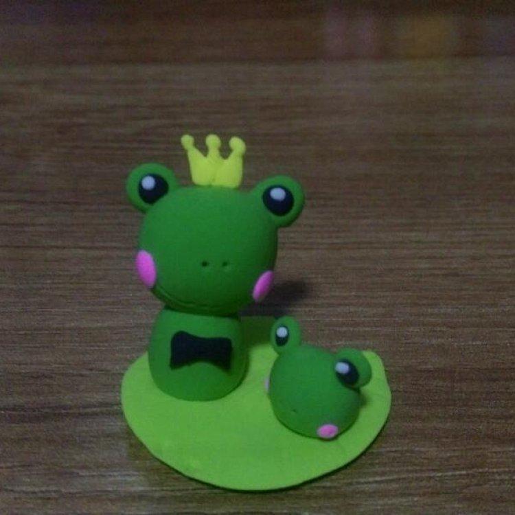纯手工超轻粘土青蛙王子