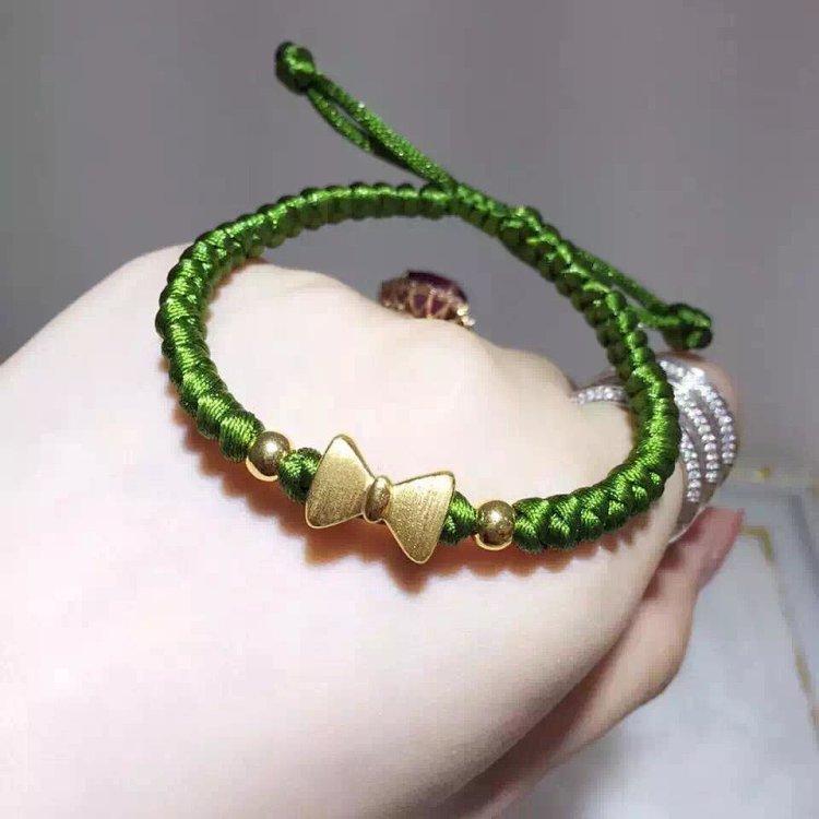 蝴蝶结手工编织手链
