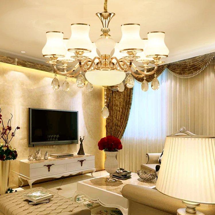 客廳吊燈大氣歐式水晶燈簡約現代臥室餐廳酒店燈簡歐