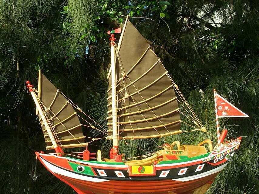 纯手工制作船模长75厘米