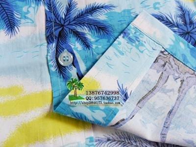 海南岛岛服沙滩服海南衫情侣休闲服饰套装多色海岛服