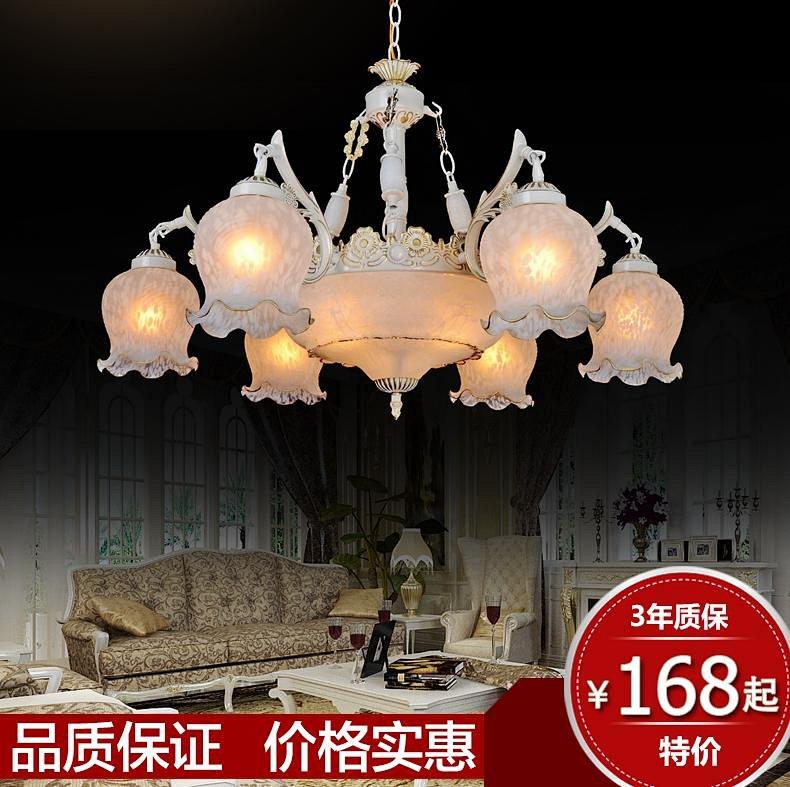 简欧式灯具餐厅铜田园水晶卧室吸顶美式客厅吊灯饰铁