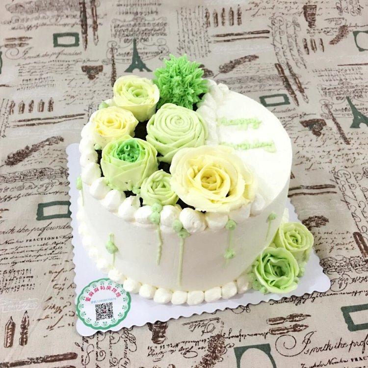 小清新森林系蛋糕 8寸