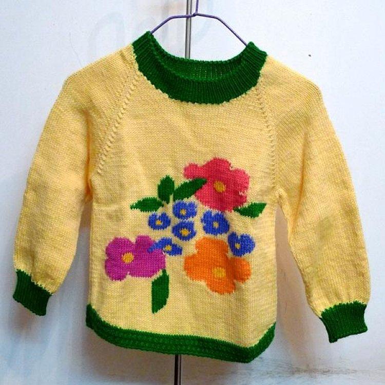 成品 手工编织儿童毛衣 韩版女孩毛衣童装