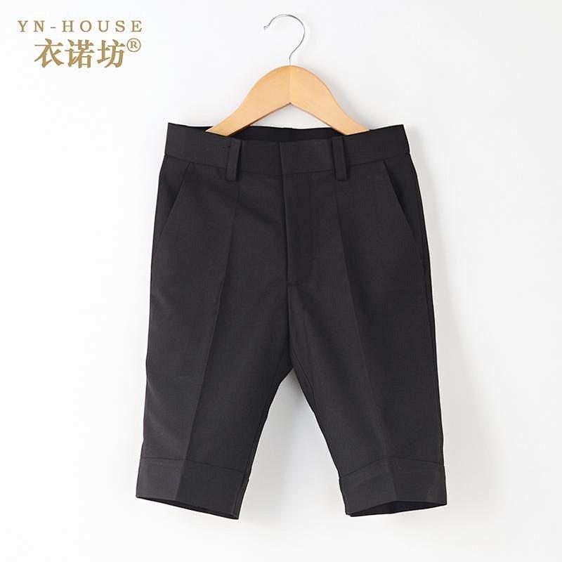 衣诺坊男童黑色西裤短裤幼儿园学生六一表演服裤子儿童短西裤男10
