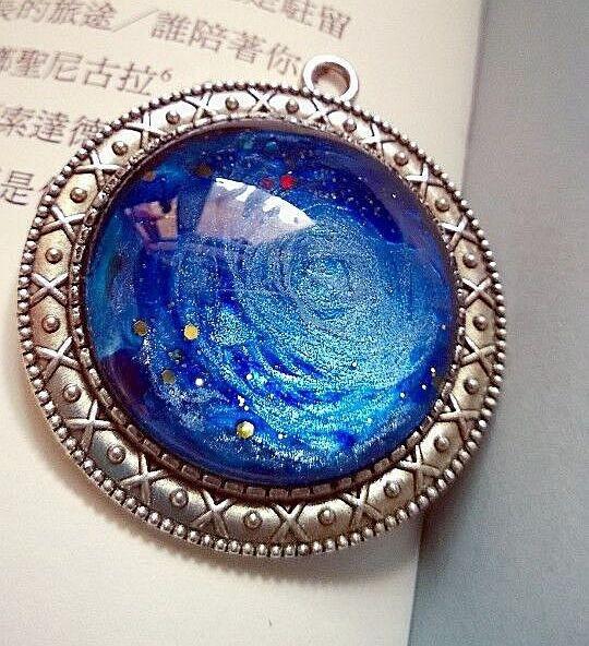 【galaxy】手绘星空时光宝石项链