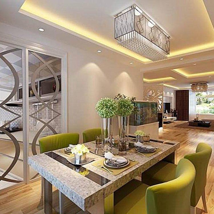 最新设计三室二厅样板房套图大户型室内家装装修3d效果图图库大全