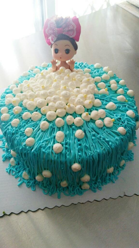喵筱萌蛋糕定制 泡泡浴芭比娃娃蛋糕 同城二环内免费送货 蛋糕定制图片