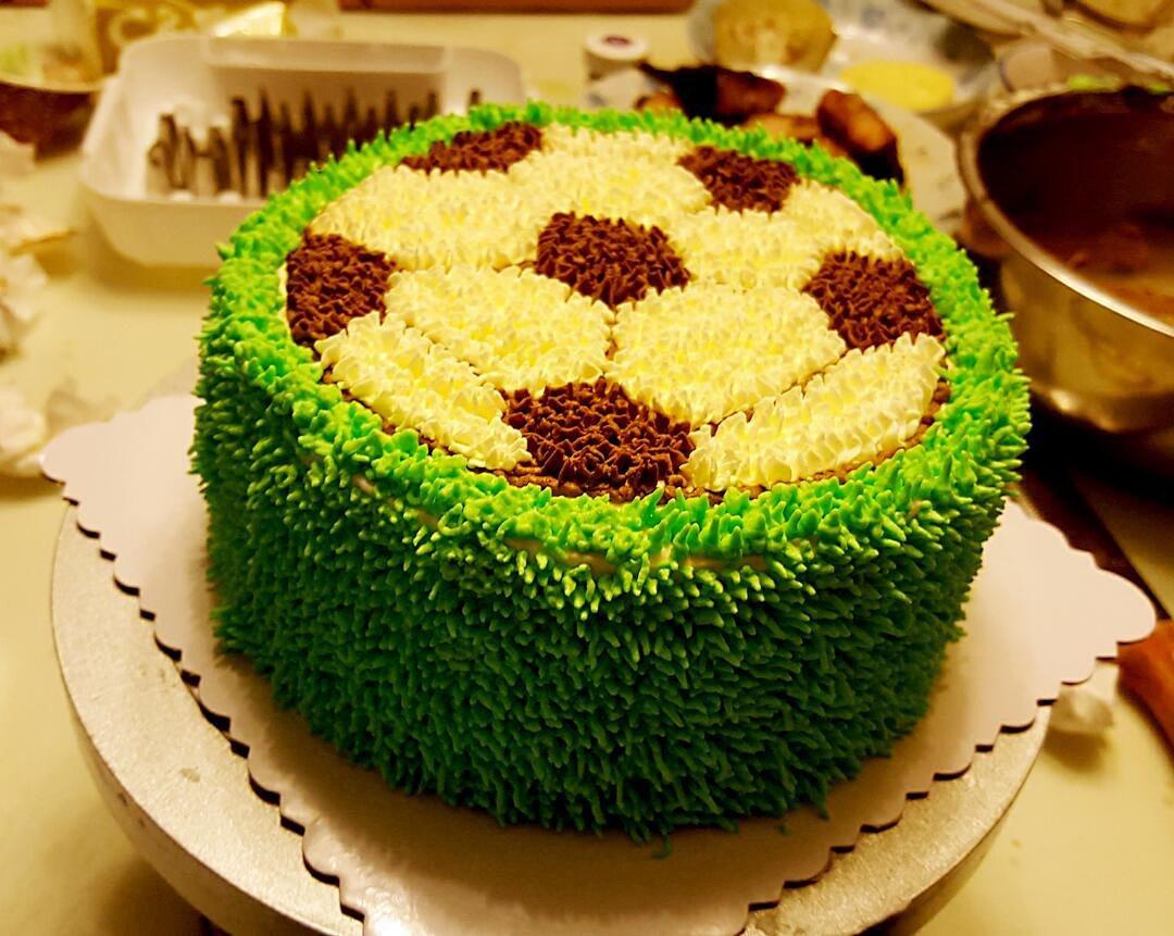 足球蛋糕 送给球迷吧!图片