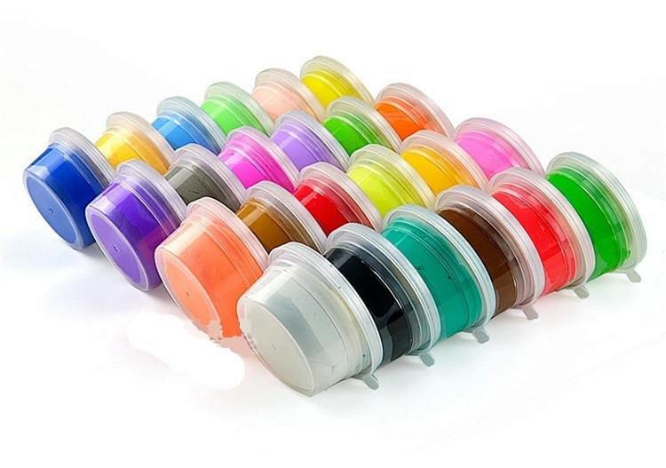 超轻粘土12色套装太空泥 珍珠雪花彩 橡皮泥儿童玩具