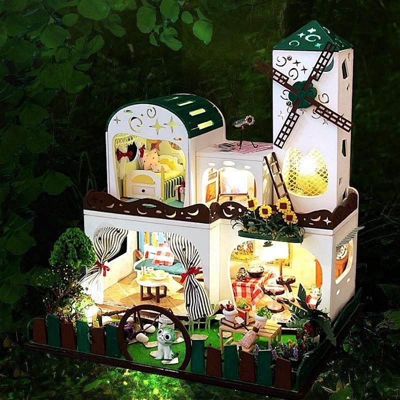 弘达diy小屋青青西岸大型手工制作房子模型别墅礼物女生小房子