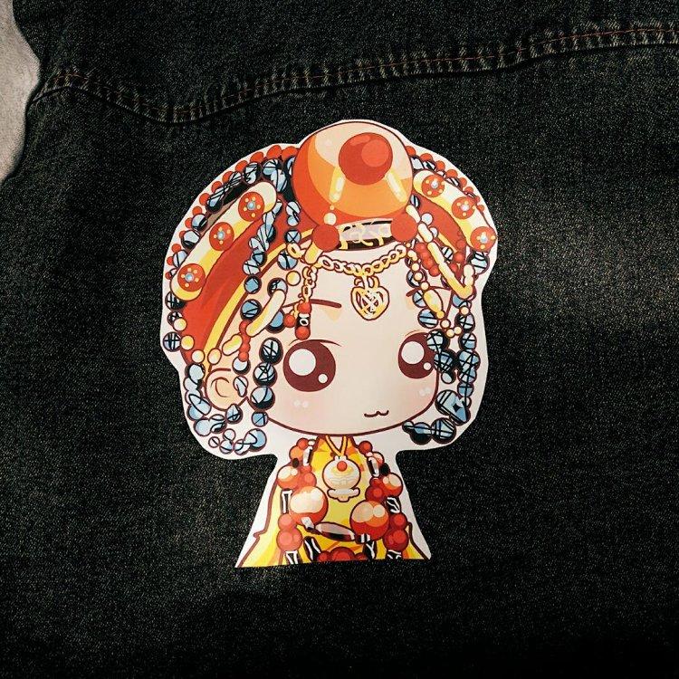 藏族卡通娃娃牛仔外套