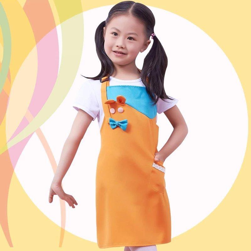幼儿园儿童围裙画画衣定做宝宝吃饭衣卡通可爱烘培美术手工防污
