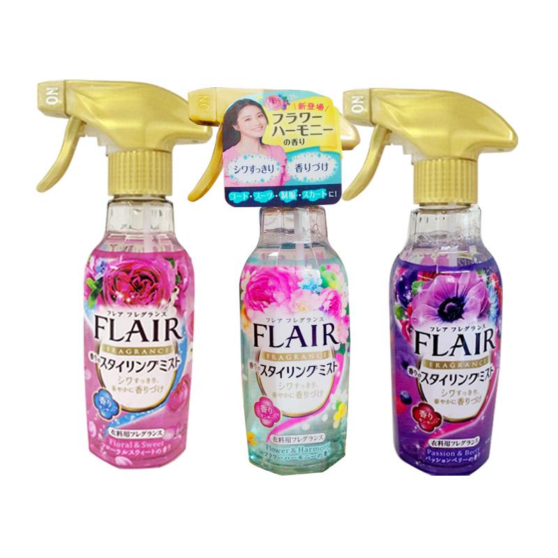 2瓶装-日本花王FLAIR衣物除味除皱防静电喷雾 免烫柔软剂