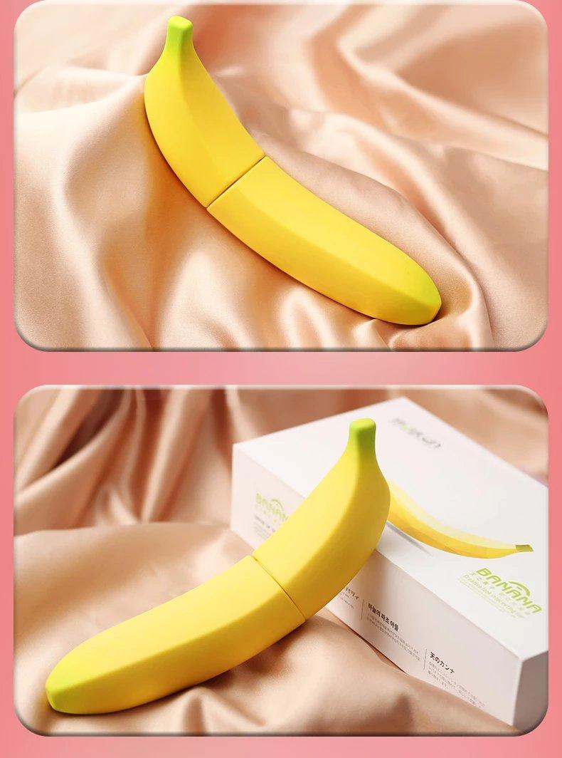 香蕉型电动加温仿真阳具
