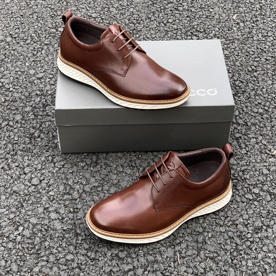 可跑步的正装皮鞋:Ecco爱步 新款圆头系带商务正装皮鞋 379元包邮(亚马逊800-1200元) 买手党-买手聚集的地方
