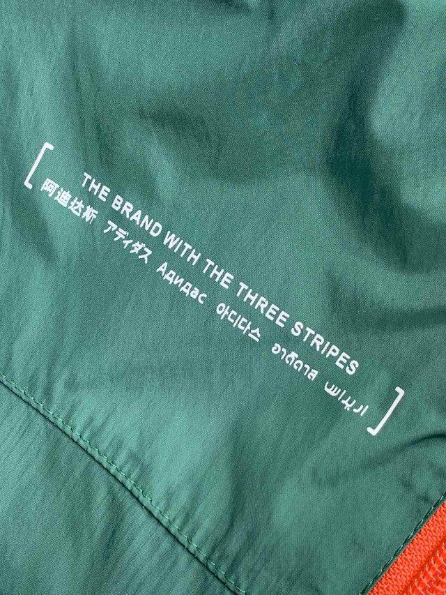 大码+防蚊+灵活穿搭:阿迪  男三条纹绿色宽松薄款梭织长裤 团购价199元包邮(吊牌价649元) 买手党-买手聚集的地方
