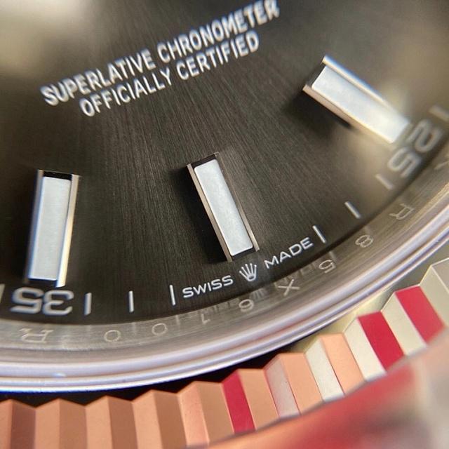 Vs日志41mm 牙圈 3235机芯 三珠904精钢 72小时动能储存 vs灰面日志插图13
